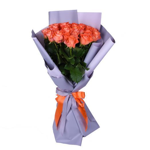 "Букет из оранжевых роз ""Балтийский закат"": букеты цветов на заказ Flowwow"