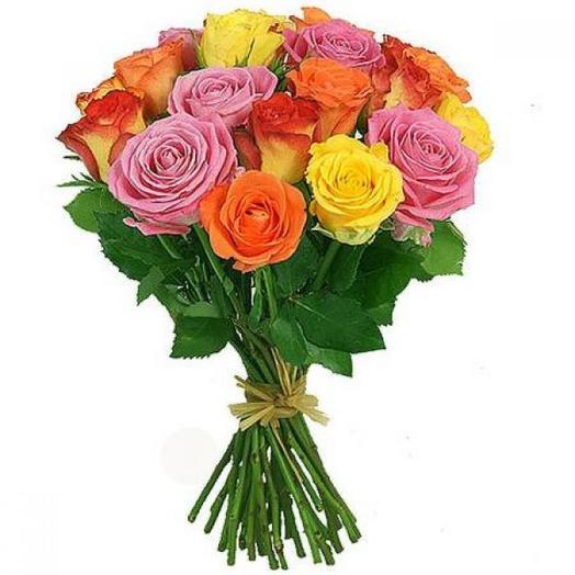 25 Кенийских роз 40 см: букеты цветов на заказ Flowwow