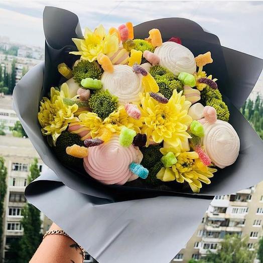 Сладкий букет «Изюминка»: букеты цветов на заказ Flowwow