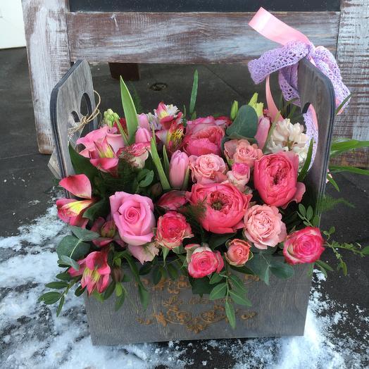 Бокс с цветами 10: букеты цветов на заказ Flowwow