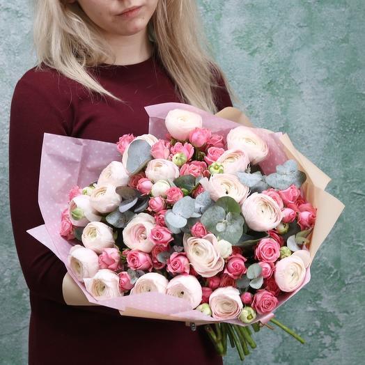 Лютики и розы: букеты цветов на заказ Flowwow