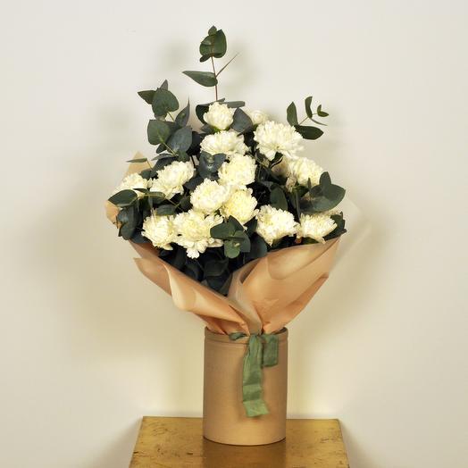 Вертикальный букет с гвоздиками: букеты цветов на заказ Flowwow