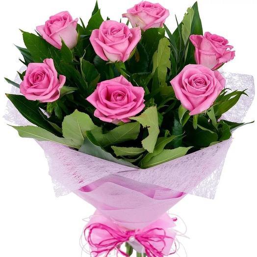 """Букет из 7 роз """"Розалинда"""": букеты цветов на заказ Flowwow"""