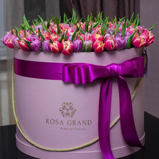 До 199 голландских пионовидных тюльпана: букеты цветов на заказ Flowwow
