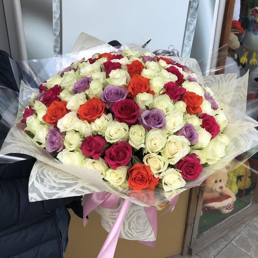 125 роз: букеты цветов на заказ Flowwow
