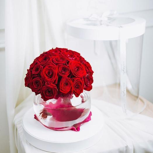 Композиция-аквариум: букеты цветов на заказ Flowwow