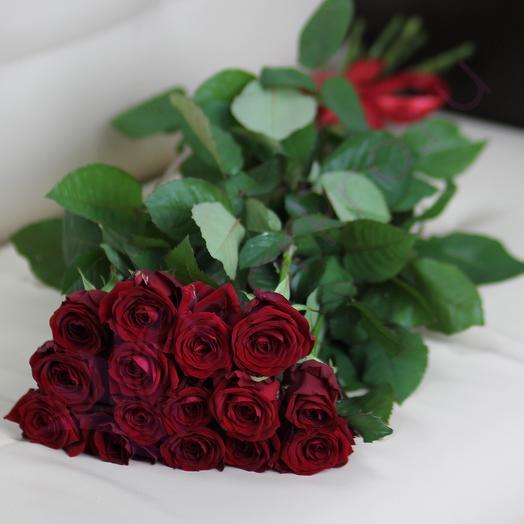 15 роз 60см: букеты цветов на заказ Flowwow