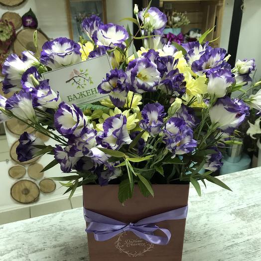 Авторская композиция в коробочке💐🎁: букеты цветов на заказ Flowwow