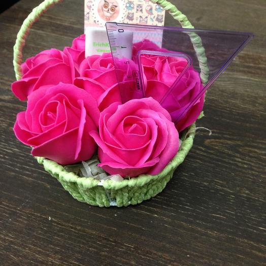 РОЗА ИЗ МЫЛА. Моей отличнице: букеты цветов на заказ Flowwow