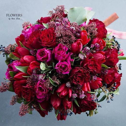 Большой европейский букет: букеты цветов на заказ Flowwow
