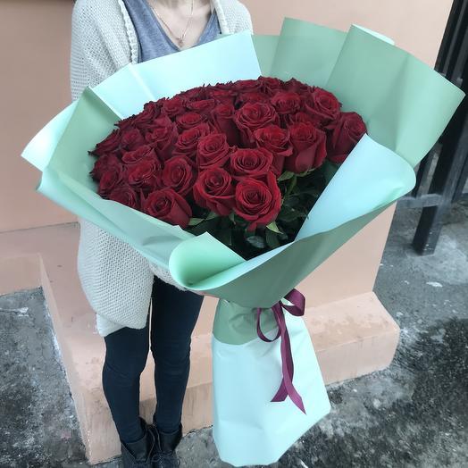 Букет из 51 Премиальной Эквадорской розы: букеты цветов на заказ Flowwow