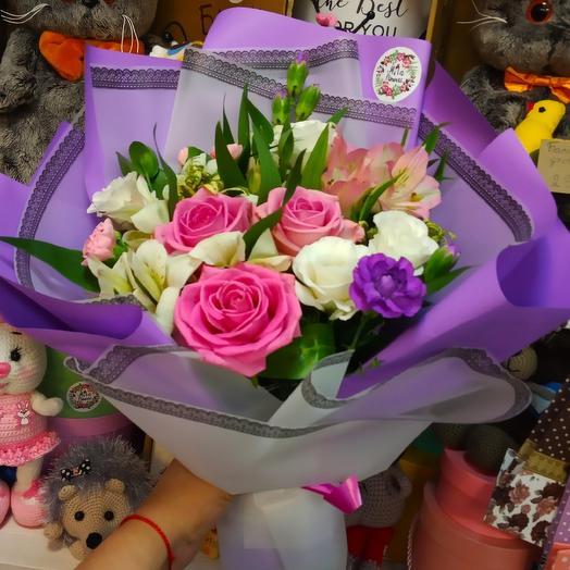 Букет Розовый вечер: букеты цветов на заказ Flowwow