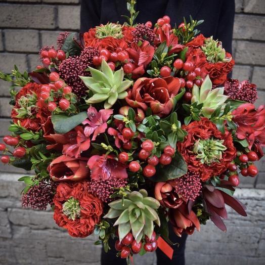 Осенняя роскошь: букеты цветов на заказ Flowwow