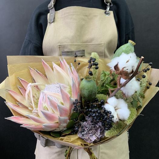 Букет с характером: букеты цветов на заказ Flowwow