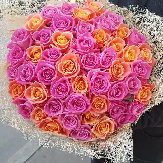 51 роза микс: букеты цветов на заказ Flowwow