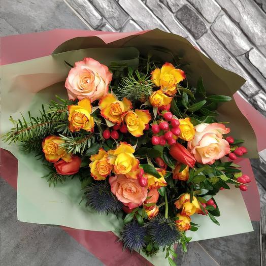 Авторский букет с розой 🥰: букеты цветов на заказ Flowwow