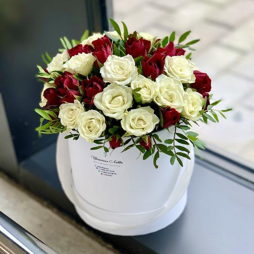 "Композиция в коробке ""Балерина"": букеты цветов на заказ Flowwow"