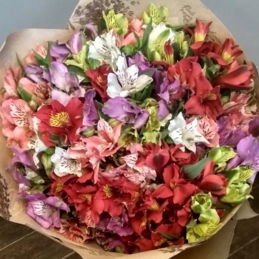Букет из 21 ветки альстромерии: букеты цветов на заказ Flowwow