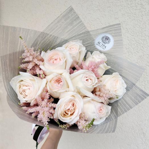 Медовые розы: букеты цветов на заказ Flowwow