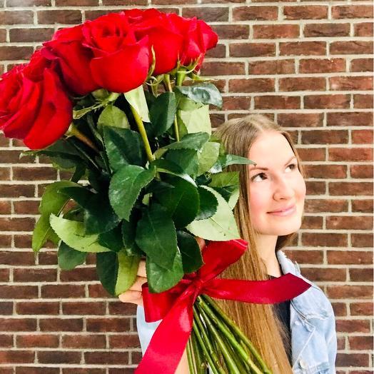 Длинные потрясающие розы 60 см Эквадор