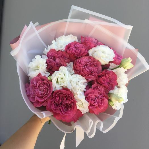 Букет «Клубника со сливками»: букеты цветов на заказ Flowwow