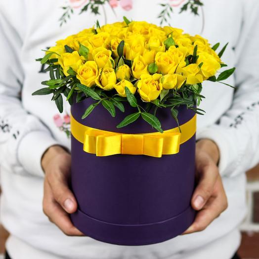 Коробки с цветами. Кустовые розы. N489