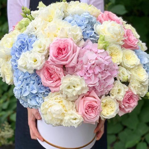 Коробка с цветами Мечты Сбываются