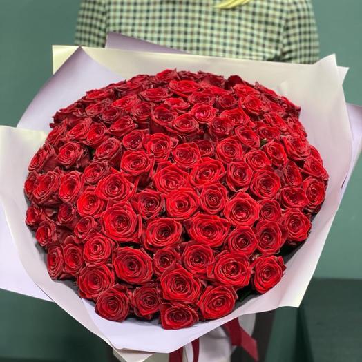 Букет из 101 алой розы