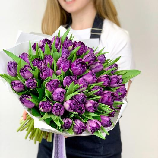 Букет Тюльпаны фиолетовые