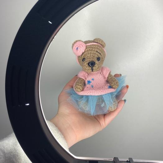 Милая мишка-девочка игрушка ручной работы