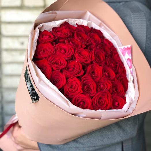 Букет роз « Искренняя любовь «