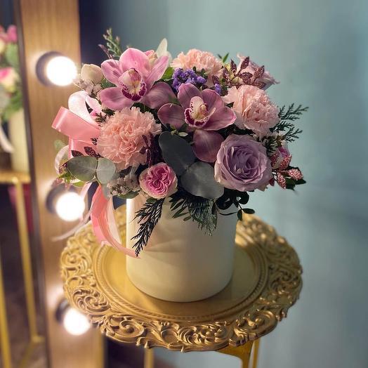 Цветы в коробке «Николь»