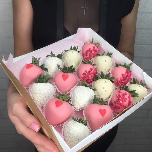 Клубника в бельгийском шоколаде «Нежный поцелуй»