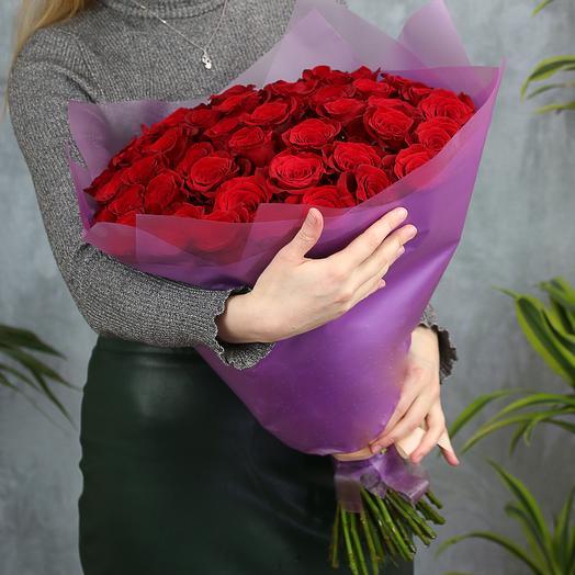 51 роза 50 см Эквадор