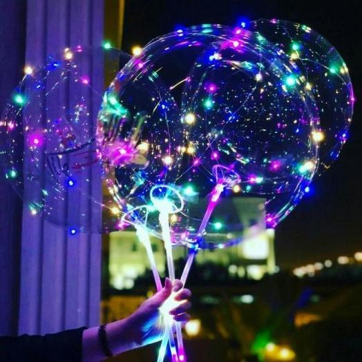 Светящийся воздушный шар Бобо led