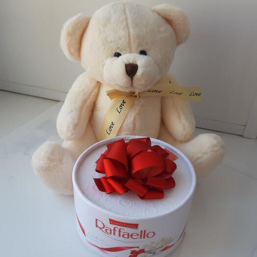 Teddy bear with Raffaello