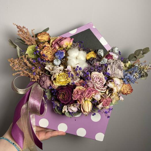 Сухоцветы в конверте