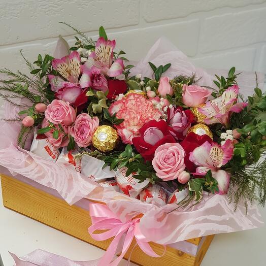 50/50 цветы /ферреро рафаэлло