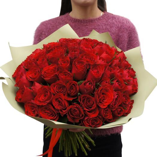 51 красная роза (40-50 см)