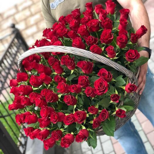 Корзина Кенийских роз
