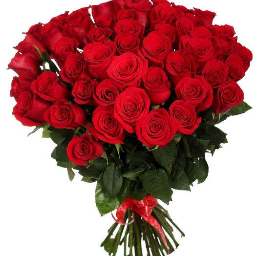 51 роза (Цвет на выбор): букеты цветов на заказ Flowwow
