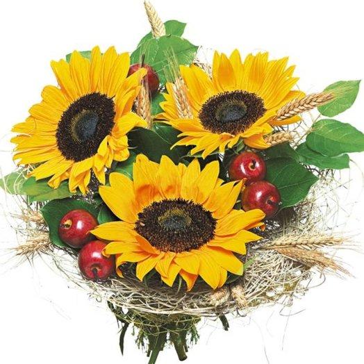 Букет из подсолнухов Над пропастью во ржи: букеты цветов на заказ Flowwow