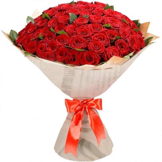55 червоних троянд
