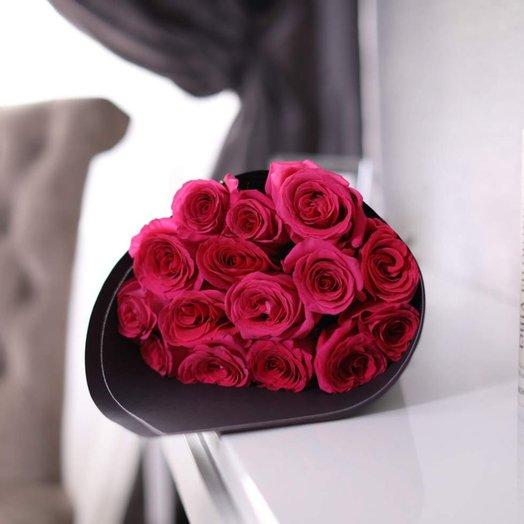 Букет из 15 роз Pink F oyd: букеты цветов на заказ Flowwow