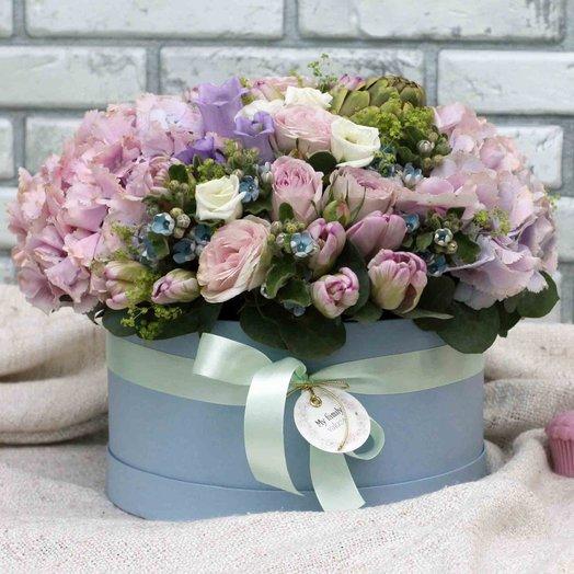 Цветы в коробке L (25 см) 0571