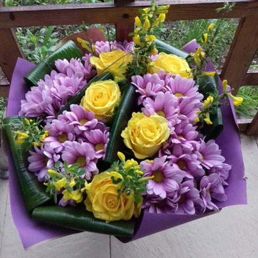 Букет в фиолетовых тонах: букеты цветов на заказ Flowwow