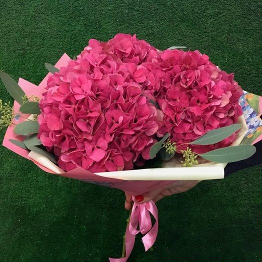 Букет из 3 гортензий: букеты цветов на заказ Flowwow