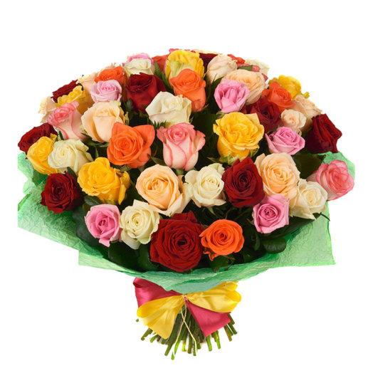 Букет 55 роз (50см): букеты цветов на заказ Flowwow