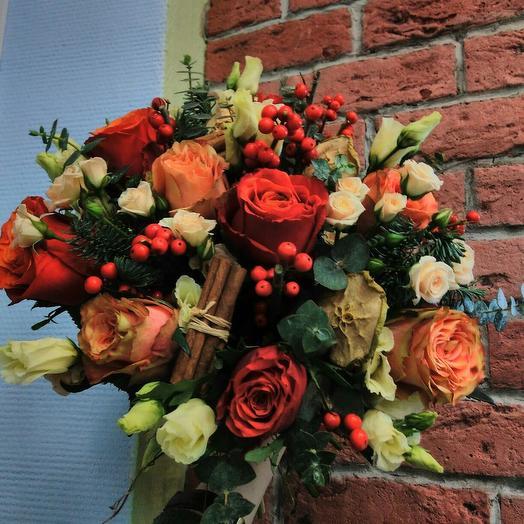 Алый декабрь: букеты цветов на заказ Flowwow