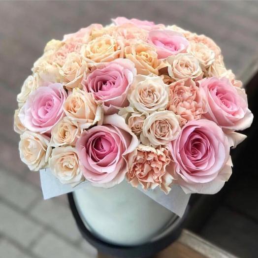 "Цветочная композиция ""Вуаль нежности"": букеты цветов на заказ Flowwow"